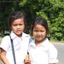 Ecolières à Battambang