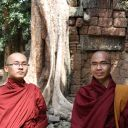 Moines au Ta Phrom