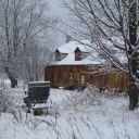 Notre ferme sous la neige